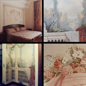 Роспись спальни и холла