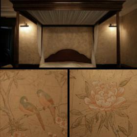 Роспись стен в спальне «Дегурне»