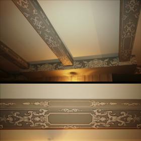Роспись деревянных балок