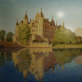 Шверинский замок Роспись в холле