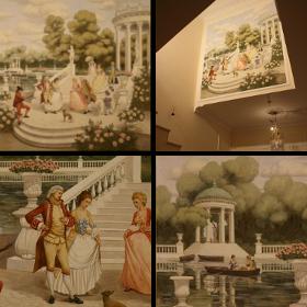 «Довиль» роспись в холле