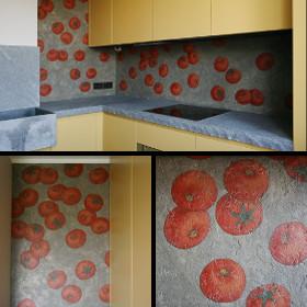 Роспись фартука помидоры