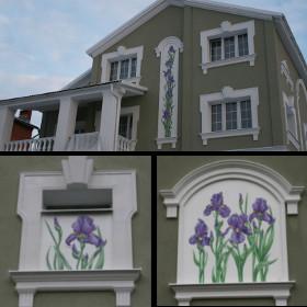 Роспись фасада дома ирисы