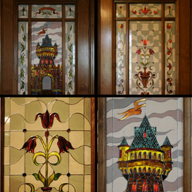 Витражная роспись дверей