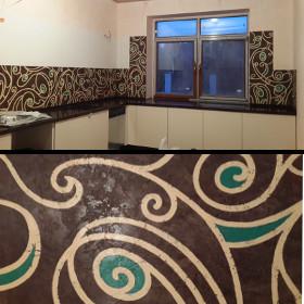 Роспись фартука в кухне
